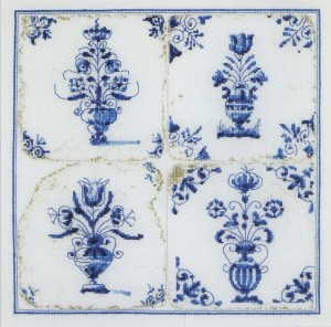 Thea Gouverneur 483 Antique Tiles, Flower Vases