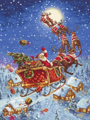 LetiStitch 958 The reindeers on its way! (Олени уже в пути!)