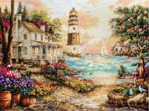 LetiStitch 962 Cottage by the sea (Коттедж у моря)