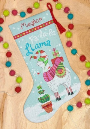 Dimensions 70-08977  Llama Christmas Stocking