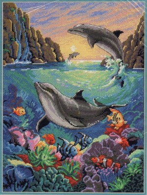 Dimensions 12128 Delightful Dolphins (made in USA)